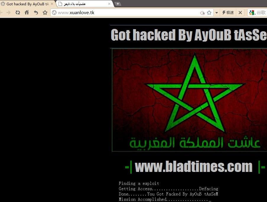 网站被伊朗黑客黑了